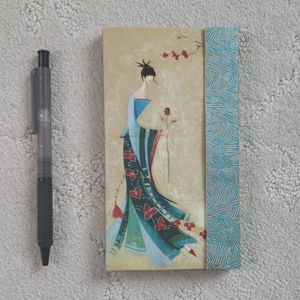 Stationary notepad and pen
